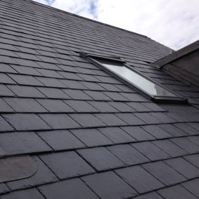 Slate roofing work done by our team in middlesex