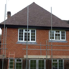 A complete new roof applied to a home in middlesex by our team