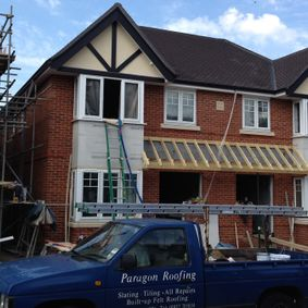 new roof on a home in middlesesx comlpeted by our team