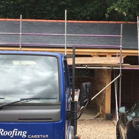 Slate roofing by our staff