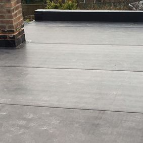 A large flat roof based on the customers requests