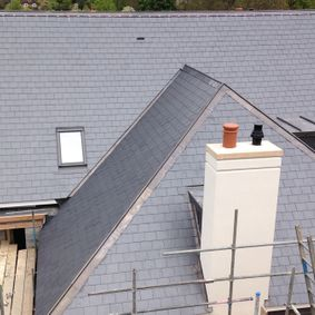 Completely redone roof replaced by slate tiles done by our expert team
